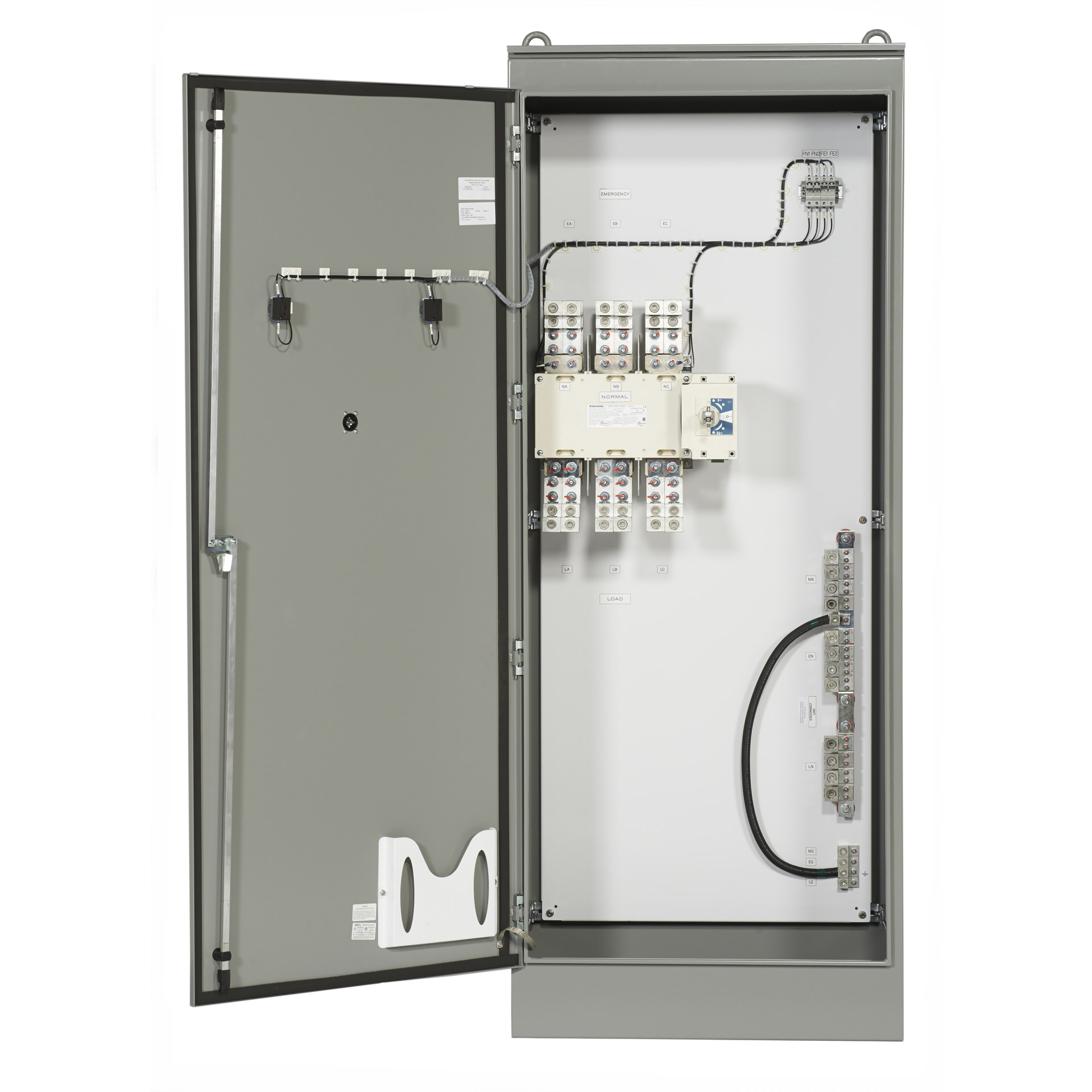 Fuse Box Panel Outline Wiring Diagram Schematics 99 F650 Psi Manual Transfer Switch With Rotary 200 3000 Amps Door